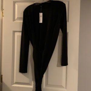 Ann Taylor Black Wrap Dress